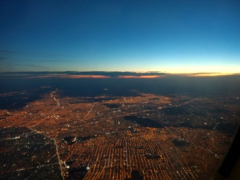 The sunset over Buenos Aires